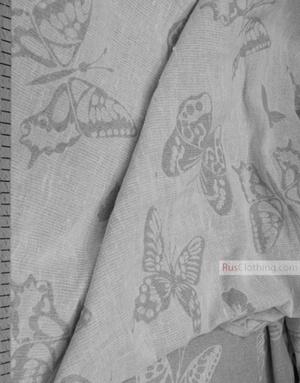 Linen Jacquard Fabric ''Butterflies ''