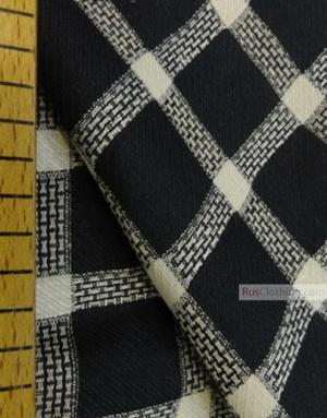 Lin Jacquard Français ''Black-and-white checkerboard''