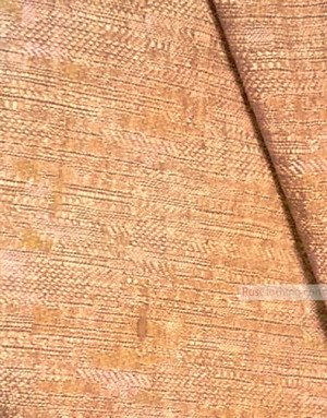 Linen Jacquard Fabric ''brown feather ''