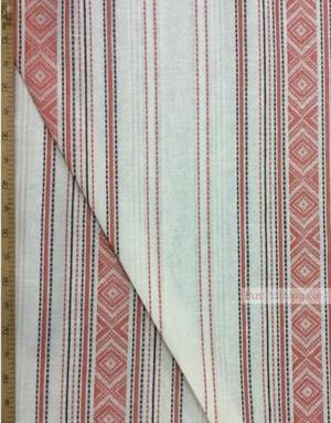 Linen Jacquard Fabric ''Chervona Ruta ''