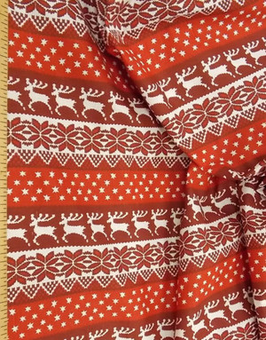 Linen fabric from Russia ''Red deer ''