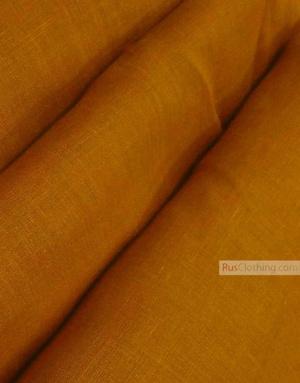 Tissu lin de Russie ''Mustard''