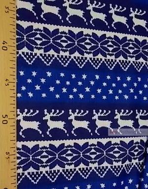Tissu lin de Russie ''Blue deer''