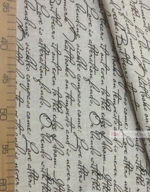 Tissu lin de Russie ''English writing''