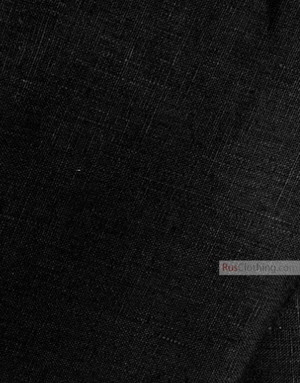 Linen fabric from Russia ''Black ''
