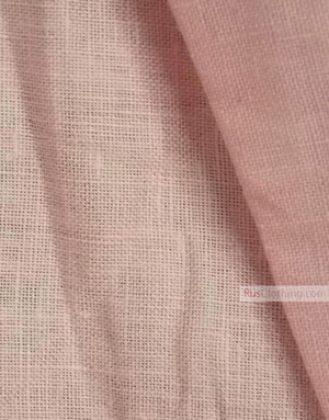 Linen fabric from Russia ''Light pink ''