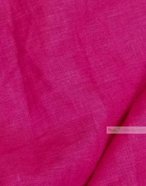 Tissu lin de Russie ''Bright pink''