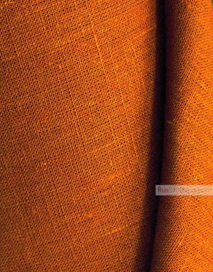 Linen fabric from Russia ''Rich Brown ''