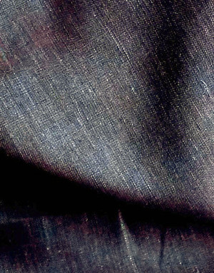 Linen fabric from Russia ''Dark blue ''