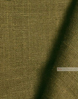 Linen fabric from Russia ''Tobacco ''
