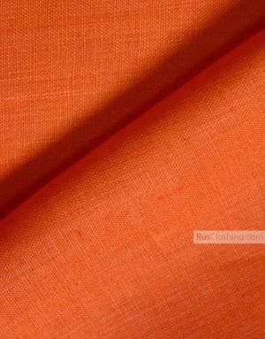 Tissu lin de Russie ''Orange''
