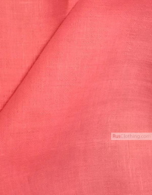Linen fabric from Russia ''Pink ''