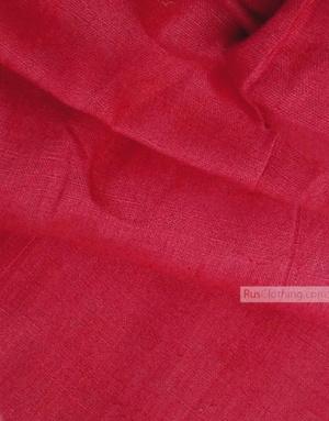 Tissu lin de Russie ''Crimson-Red''