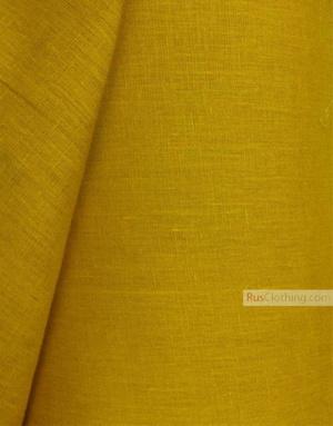 Tissu lin de Russie ''Honey-Mustard''