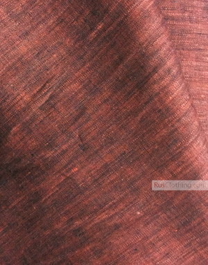 Linen fabric from Russia ''Black And Cherry ''