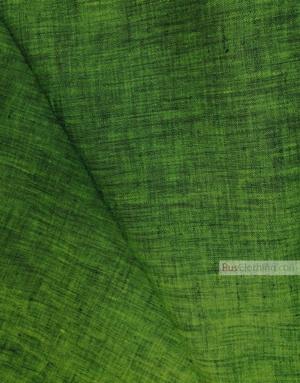 Tissu lin de Russie ''Black And Green''