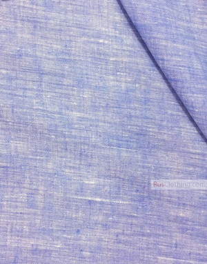Tissu lin de Russie ''White-Blue''
