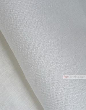 Tissu lin de Russie ''bleached, White''