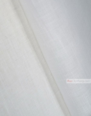 Linen fabric from Russia ''White ''