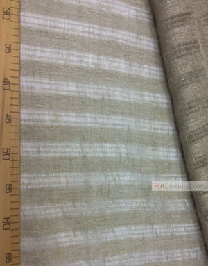Linen fabric from Russia ''Strips ''