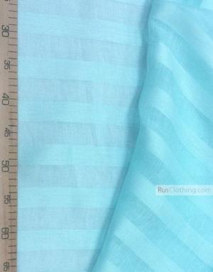 Tissu lin de Russie ''Turquoise Strips ''