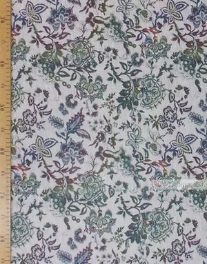 Tissu lin de Russie ''Flowers On White''