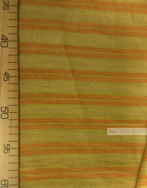 Linen fabric from Russia ''Ornamental strip on mustard ''