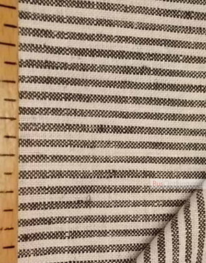 Linen fabric from Russia ''Black and White ''