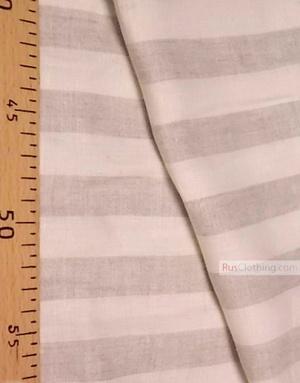 Tissu lin de Russie ''White-gray strips''