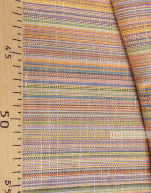 Linen fabric from Russia ''Yellow-orange strips ''