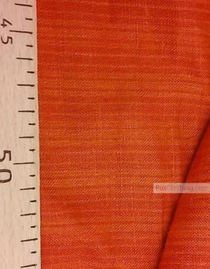Tissu lin de Russie ''Burgundy-orange strips''