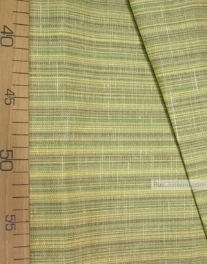 Tissu lin de Russie ''Yellow green strip''
