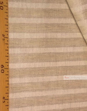 Linen fabric from Russia ''Beige Strips ''