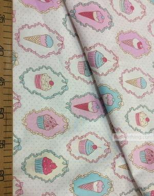 Nursery Print Fabric by the Yard ''Sweet Dessert''}
