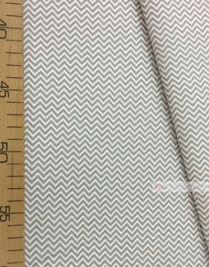 Tissu géométrique au metre ''Small, Gray-White Zigzag''}
