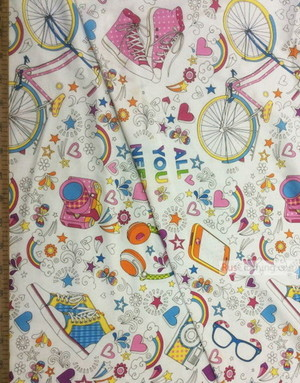 Baby Quilt Fabric by the Yard ''All You Need''}