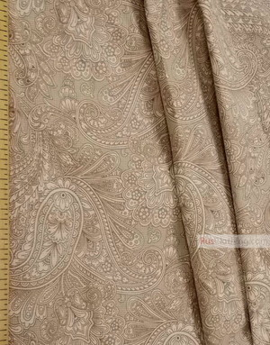Vintage Fabric Ornament by the yard''Oriental Motif, Beige''}