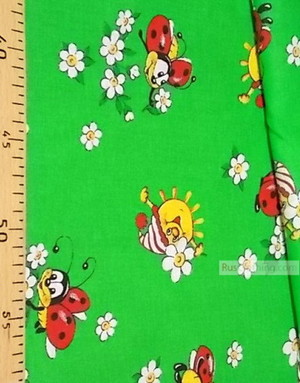 Textile enfant au metre ''The Sun On The Green Meadow''}