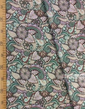 Tissu folklorique au metre ''Oriental Patterns, Purple''}