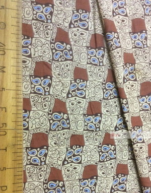 Geometric Print Fabric  ''The Pattern In The Box, Brown''}
