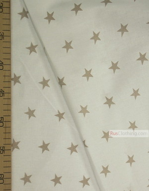 Nursery Print Fabric by the Yard ''Gray Star On A White''}