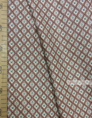 Tissu géométrique au metre ''Sand Diamond On Brown''}