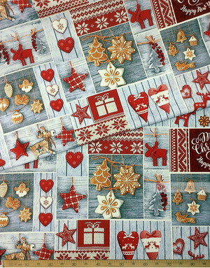 Waffle Fabric by the yard ''New Year Gift''}
