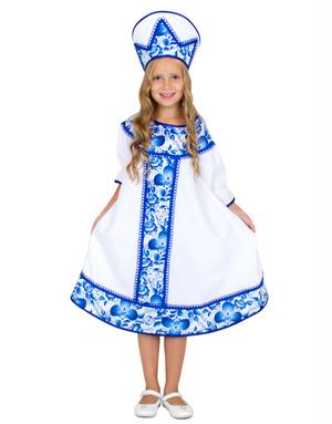 Russian Girl Gzhel Costume