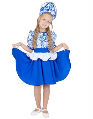 Russian Girl Gzhel Souvenir Costume