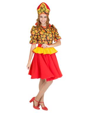 Costume de fille russe Souvenir de Khokhloma