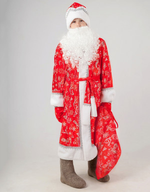 Ded Moroz Costume Kids ''Satin''