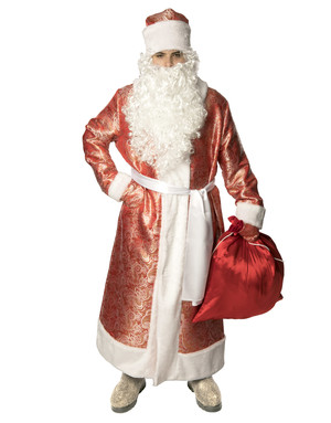 Russian costume Father Frost Red Jacquard