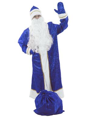 Costume Père Noël russe en bleu