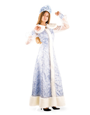 Snow Maiden Russian Costume Silk